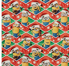 MINIONS GIFT WRAP WRAPPING PAPER ROLL CHRISTMAS HOLIDAY 20 SQUARE FEET NEW