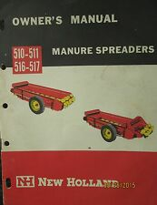 Nh - New Holland 510-511-516-517 Manure Spreader Owner`s Manual Factory Original