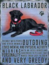 Black Labrador Dog Small Metal Wall Sign 200mm x 150mm 90762