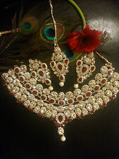 Latest Indian Bollywood Jewellery Wedding Party Bridal Fashion Necklace set