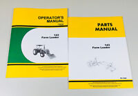 OPERATORS MANUAL PARTS CATALOG SET FOR JOHN DEERE 143 LOADER INSTALLATION REPAIR
