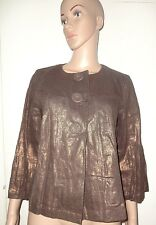 SIZE 12 MARKS AND SPENCER BRONZE JACKET, PRE-LOVED, 100% RAMIE
