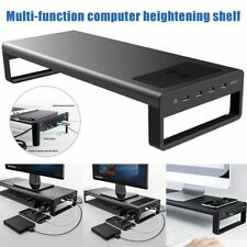 Smart Base Aluminum Computer Laptop/Monitor Stand USB 3.0 Wireless Charger Base