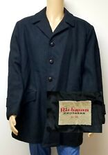 Vintage 50s 60s Richman Brothers Mens Charcoal Wool Overcoat Coat sz XL 46