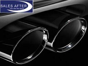 Original BMW F07 F10 F11 Satz Auspuffblende schwarzchrom Endrohrblende schwarz