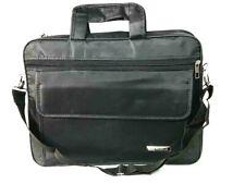"""15.5"""" 16"""" Black Laptop Shoulder Briefcase Bag Multi Pocket Notebook Messenger"""