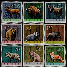 Poland 1965 : Forest animals  // Set of 9 stamps