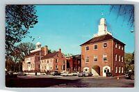 Courthouse, Market Building, Vintage New Castle Delaware Postcard