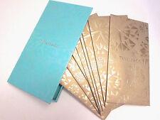 RARE Tiffany & Co. Collectibles 8 Gold Envelope Holiday Set w/ Tiffany Blue Box