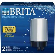 Brita Tap Water Faucet Filter Replacement, 2 Count - Chrome