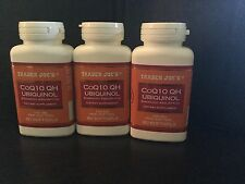 Trader Joe's Co Q10 Ubiquinol 100mg 60gels-lot Of 3 Bottles Exp October 2020