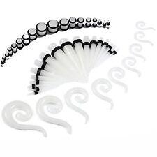 54pc Gauges Glow in the Dark Spiral Hanger Taper Plug 14G-00G Ear Stretching Kit