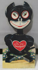 Antique Felix The Cat Thumb Wheel Mechanical Valentine Card Germany Head Moves