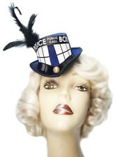 Tardis Top Hat Mini Doctor Who Inspired Victorian Steampunk Fascinator Cosplay