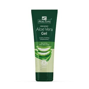 1 Tube of Aloe Pura Skin Treatment Aloe Vera Organic Gel 100ml PACKAGE MAY VARY