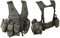 LIGHTWEIGHT MOLLE II ACU PATTERN FLC ADJUSTABLE FIGHTING LOAD CARRIER W/ POUCHES