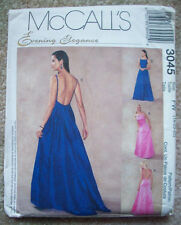 Unused scoop back evening dress gown pattern 3045 size 18 20 22