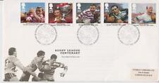 GB Royal Mail FDC 1995 conjunto de Liga de Rugby Bureau PMK Gibbons Pegatina