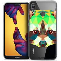 "Coque Crystal Gel Pour Huawei P20 LITE (5.84"") Souple Polygon Animals Raton Lave"