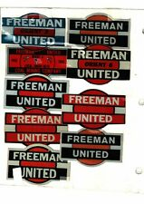 New listing Nice Rare Lot Of 9 Freeman United Coal Co. Coal Mining Stickers # 474