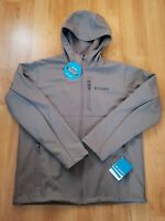 COLUMBIA ASCENDER™ HOODED SOFTSHELL JACKET NWT GRAY LARGE