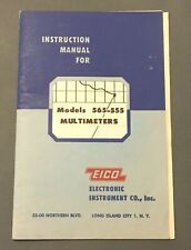 EICO Model 565 555 Multimeter Instruction Manual 1952 Plus Addenda
