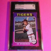 1975 Topps #439 Ed Brinkman Tigers Graded SGC 96 (9) MINT High Grade,