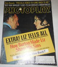 Photoplay Magazine Liz Burton & Elvis Presley October 1973 072914R