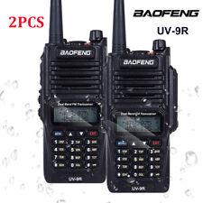 2x Waterproof IP67 BaoFeng UV-9R Walkie Talkie V/UHF 2-Way Radio Long range VOX