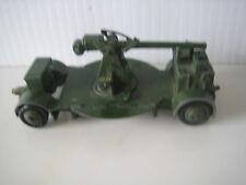 Vintage DINKY TOYS Anti Aircraft Gun w/ 4 Wheel Carrier