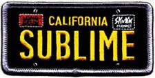 Sublime License Plate Embroidered Patch / Iron On Appliqué, Officially Licensed