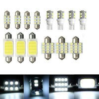 14x Car Auto Interior COB LED Lights Package Kit T10 & 31mm 42mm Bulbs Lamps