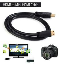 2.5FT 0.8M HDMI to Mini HDMI Male to Male Nickel-plated Cable Cord 1080P erus