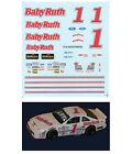 1 Jeff Gordon 1990 Baby Ruth decal 1/64 scale AFX Tyco Lifelike Autoworld