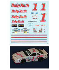 #1 Jeff Gordon 1990 Baby Ruth decal 1/64 scale AFX Tyco Lifelike Autoworld