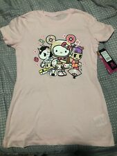 NWT SDCC 2018 Tokidoki Hello Kitty Can't Text With Us T-Shirt Womens XS X-Small