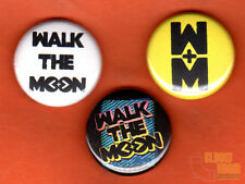 "Set of three 1"" Walk the Moon pins buttons alt band shut up and dance"