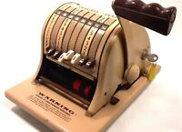 Vintage 1960's Paymaster Series 8000 Ribbon Check Writer w/ Key Tested & Working