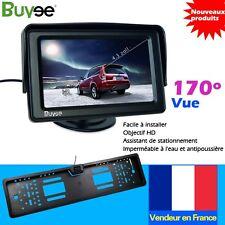 "support de plaque immatriculation 170°caméra de recul couleur+ 4.3""Ecran TFT LCD"