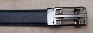 Fashion Model Brand New Black Ratchet Belt Size 44/46 Adjustable Silver Buckle