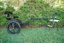 New Easy Entry Horse Cart-Mini Size Metal Floor w/Motorcycle Tires