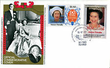 TUVALU NIUTAO 1987 QUEEN 40th WEDDING ANNIVERSARY $1.50 & $3.50 FIRST DAY COVER