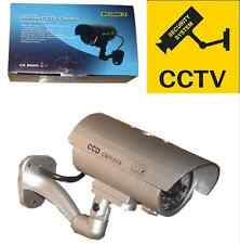 2x Outdoor/Indoor Fake Dummy Security Camera Red Blinking Light Led