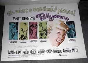 POLLYANNA 22x28 HAYLEY MILLS/AGNES MOOREHEAD original DISNEY 1960 movie poster