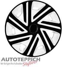 Radkappen 15 Zoll Cyo Weiß-Schwarz für Hyundai Ford Radblenden Radzierblenden