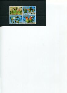 2009 WWF MALAWI Lilian's Lovebird 4v set MNH POST-FREE