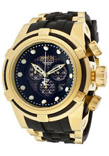 @NEW Invicta Reserve Men's Bolt Zeus Gold Tone + Black Carbon Fiber Watch 12666