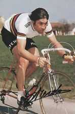 EDDY MERCKX Signed 7x5 Photo TOUR DE FRANCE Legend COA
