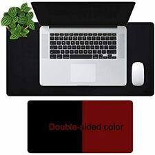 Offidix Office Desk Mat 24x12inches Non Slip Pu Leather Two Colors Mouse Pad