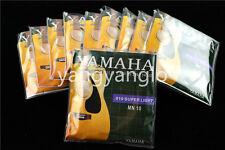 10 Sets of MN10 Acoustic Guitar Strings 1st-6th Steel Strings 010 Super Light